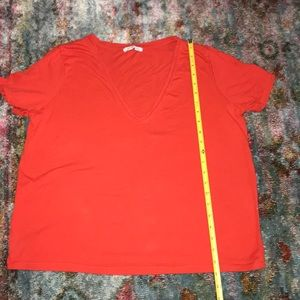 Zara red T shirt